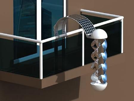 Pannelli solari balcone appartamento